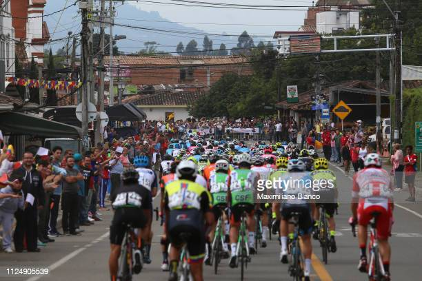 Landscape / Peloton / Fans / Public / during the 2nd Tour of Colombia 2019, Stage 3 a 167,7km stage from Complex Llanogrande to Complex Llanogrande /...