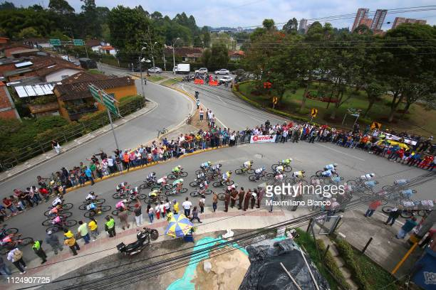 Landscape / Peloton / Fans / Public / during the 2nd Tour of Colombia 2019 Stage 3 a 1677km stage from Complex Llanogrande to Complex Llanogrande /...
