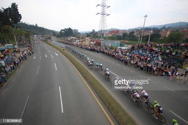 Landscape / Peloton / Fans / Public / Medellín City / during the 2nd Tour of Colombia 2019 Stage 6 a 1738km stage from El Retiro to Alto Las Palmas...
