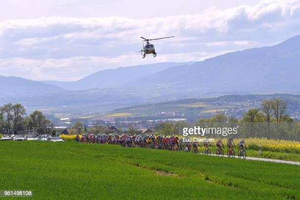 Landscape / Peloton / Helicopter / during the 72nd Tour de Romandie 2018 Stage 2 a 1739km stage from Delemont to YverdonlesBains on April 26 2018 in...