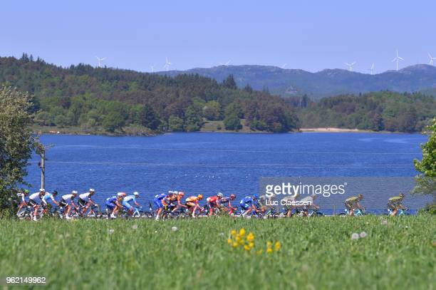 Landscape / Peloton / Lake during the 11th Tour des Fjords 2018 Stage 3 a 183km stage from Farsund to Egersund on May 24 2018 in Egersund Norway