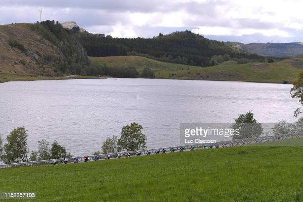 Landscape / Peloton / Lake / eduring the 9th Tour of Norway 2019 Stage 1 a 1682km stage from Stavanger to Egersund / @tourofnorway / #TourOfNorway /...