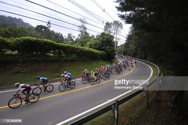 Landscape / Peloton / Medellín City / during the 2nd Tour of Colombia 2019, Stage 6 a 173,8km stage from El Retiro to Alto Las Palmas 2478m -...