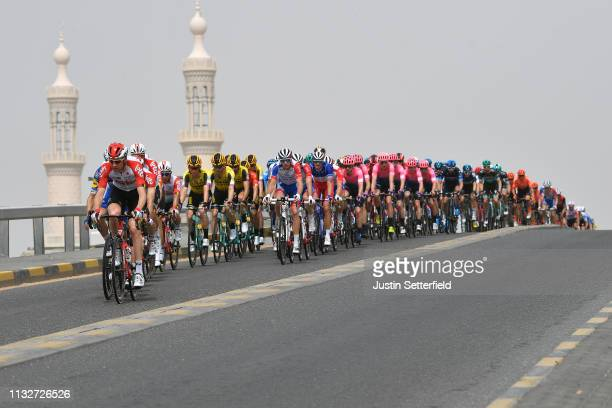 Landscape / Peloton / Mosque / during the 5th UAE Tour 2019, Stage 5 a 181km stage from Sharjah - Flag Island to Khor Fakkan / #UAETour / on February...