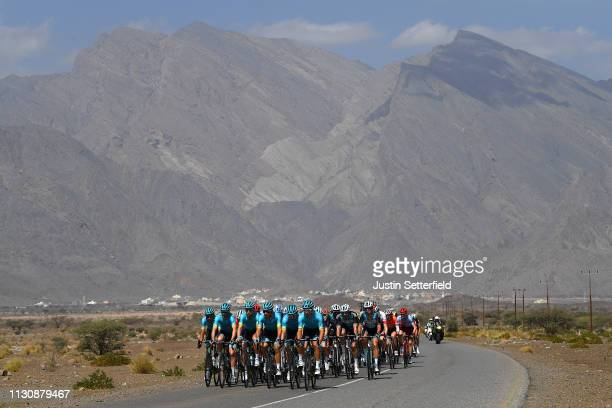 Landscape / Peloton / Mountains / during the 10th Tour of Oman 2019 Stage 5 a 152km stage from Samayil to Jabal Al Akhdhar Green Mountain 1235m /...