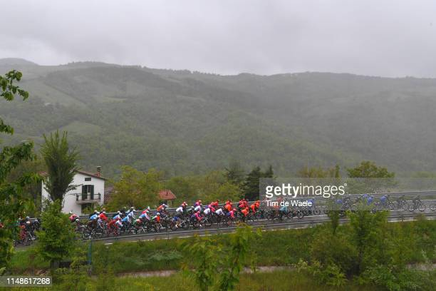 Landscape / Peloton / Rain / during the 102nd Giro d'Italia 2019 Stage 2 a 205km stage from Bologna to Fucecchio / Tour of Italy / #Giro /...