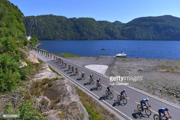 Landscape / Peloton / Sea / during the 11th Tour des Fjords 2018 Stage 3 a 183km stage from Farsund to Egersund on May 24 2018 in Egersund Norway