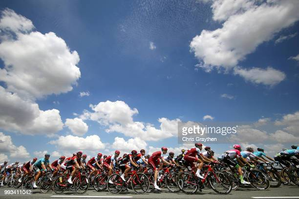 Landscape / Peloton / Sky / Clouds / during the 105th Tour de France 2018, Stage 1 a 201km from Noirmoutier-En-L'ile to Fontenay-le-Comte on July 7,...