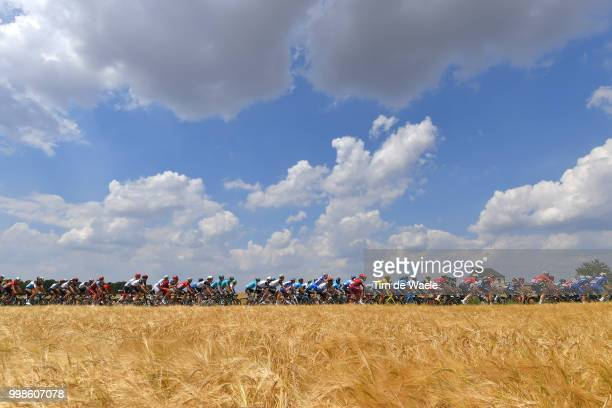 Landscape / Peloton / sky / during the 105th Tour de France 2018, Stage 8 a 181km stage from Dreux to Amiens Metropole / TDF / on July 14, 2018 in...