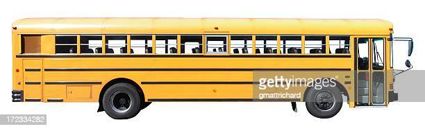 Landscape photograph of a bus on a white background