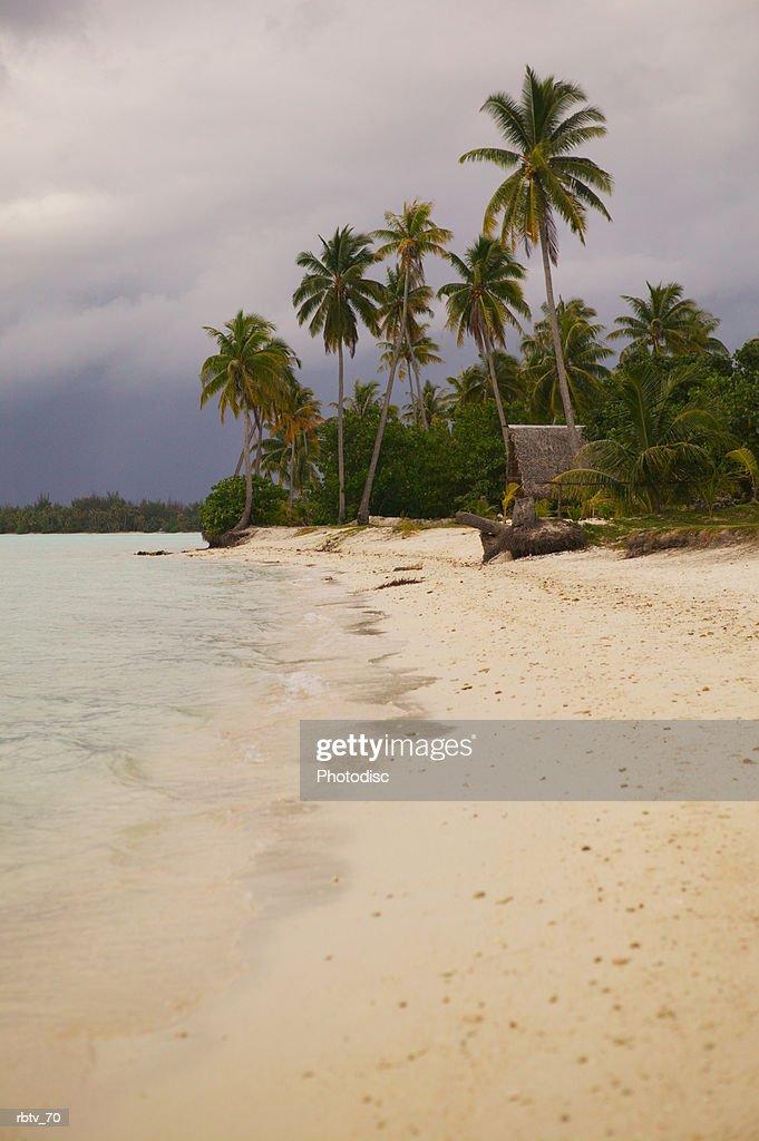 landscape photograph of a tropical beach : Stockfoto