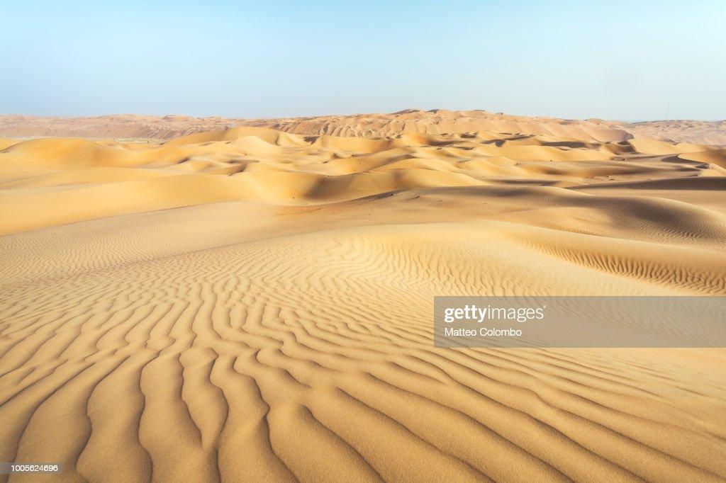 Landscape: sand dunes desert, Abu Dhabi, Emirates : Foto de stock