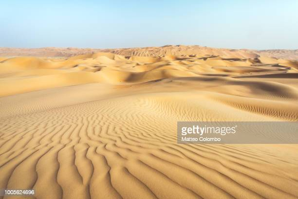 landscape: sand dunes desert, abu dhabi, emirates - desert stock pictures, royalty-free photos & images