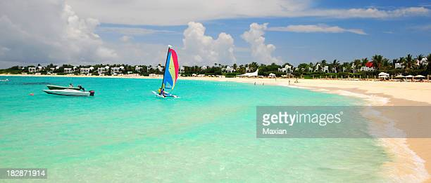 Landscape shot of Anguilla Beach