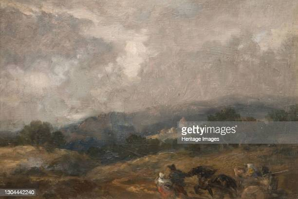 Landscape Sketch, 1877. Artist Sir John Gilbert.