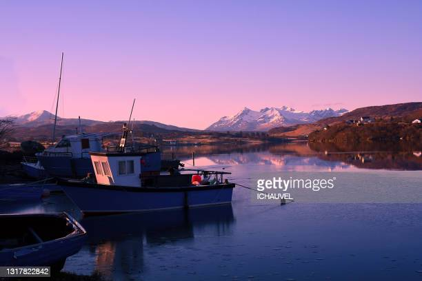 landscape skye island scotland - nautical vessel stock pictures, royalty-free photos & images