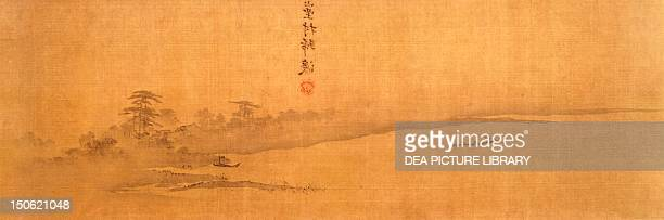Landscape view by Xia Gui ink on silk China Detail Chinese Civilisation Southern Sung Dynasty 13th century