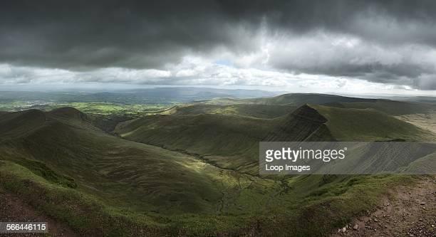 Landscape view from Pen y fan peak in Brecon Beacons