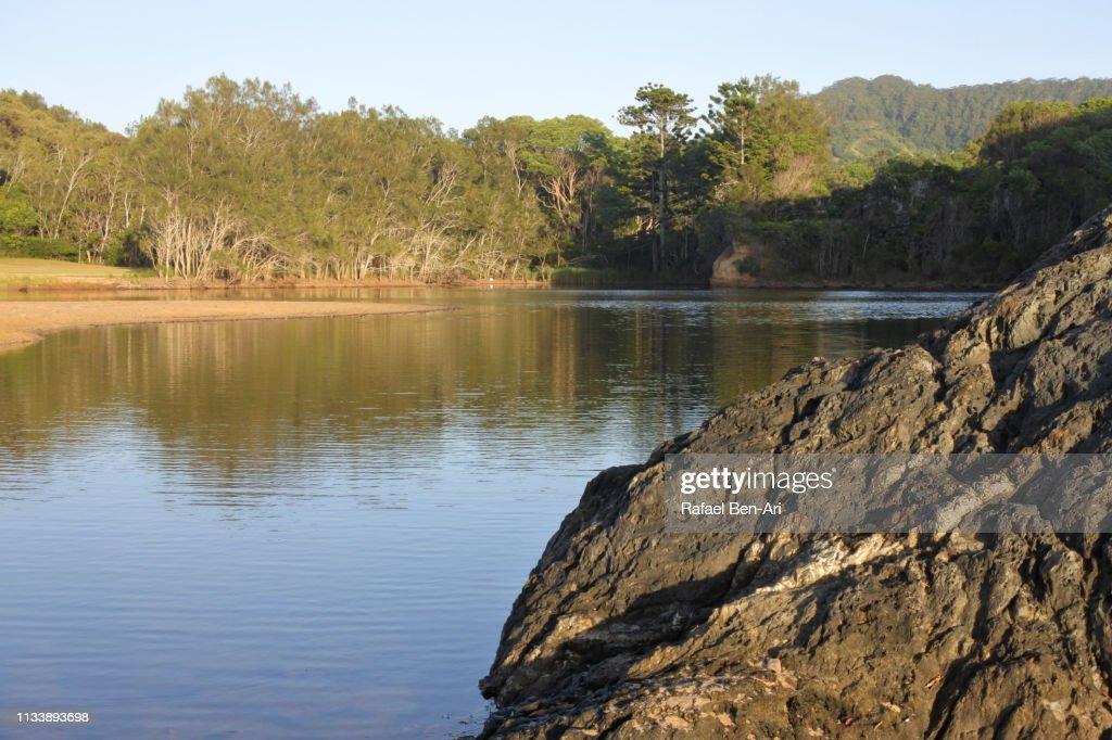Landscape view of a lake : Stock Photo