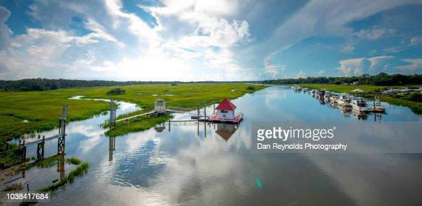 Landscape view of Boats, Inland River near Jacksonville ,Fl.