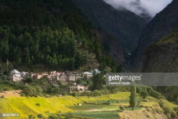 Landscape view of Himachal pradesh in summer