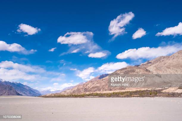 landscape view of  ladakh in jammu and kashmir, northern india. - india summer stock-fotos und bilder