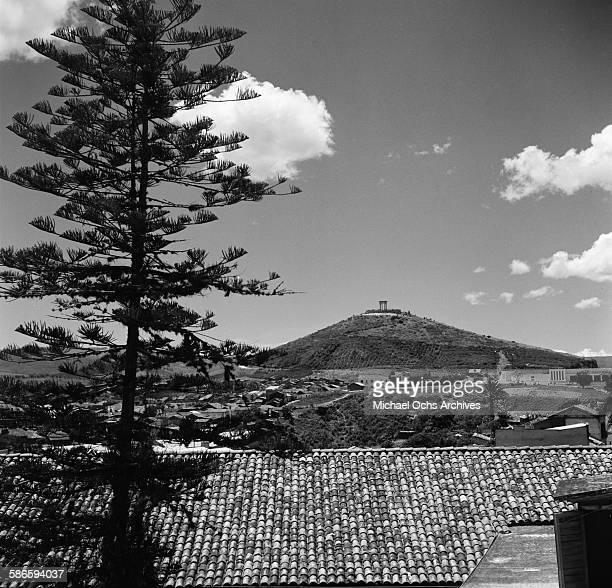 A landscape view of Monumento a la Paz in Tegucigalpa Honduras