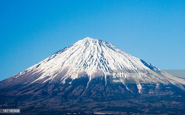 A landscape view of Mount Fuji