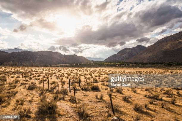 Landscape view of mountains near Lake Isabella, California, USA