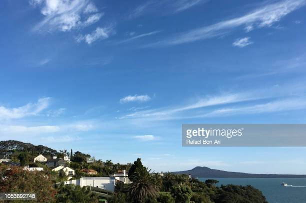 Landscape View of Rangitoto Island in Auckland New Zealand
