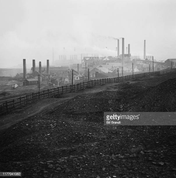 A landscape view of the industrialised Swansea Valley in South Wales 1943 Original Publication Picture Post story 1448 The Story of the Swansea...