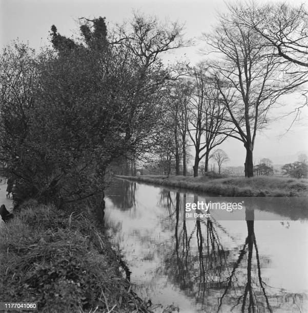 A landscape view of the the River Tawe in the industrialised Swansea Valley in South Wales 1943 Original Publication Picture Post story 1448 The...