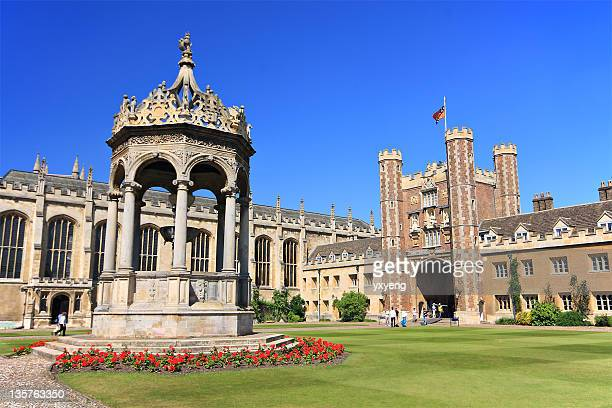 landscape view of trinity college - cambridge university stock pictures, royalty-free photos & images