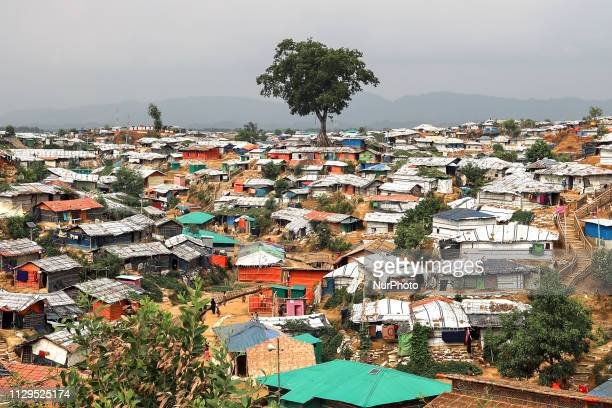 A landscape view seen in the Balukhali camp in Cox's Bazar Bangladesh on March 07 2019