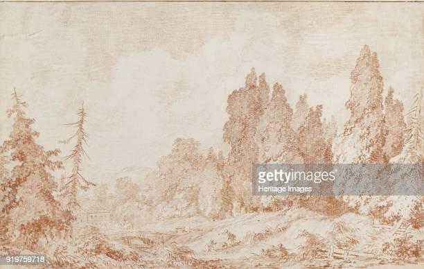 Landscape with a Bridge circa 1760 Artist JeanHonore Fragonard