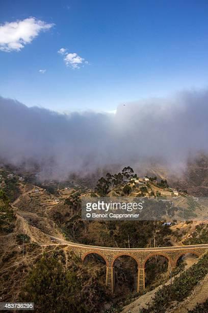 landscape with a bridge, nefasit, eritrea - eritrea stock pictures, royalty-free photos & images