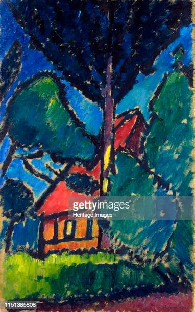 Landscape with a Red Roof' circa 1911 Javlensky Alexei von Expressionism Russia Found in the collection of the State Hermitage St Petersburg