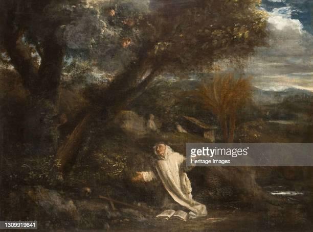 Landscape with a Saint in Ecstasy, 1612-1647. Artist Pier Francesco Mola. .