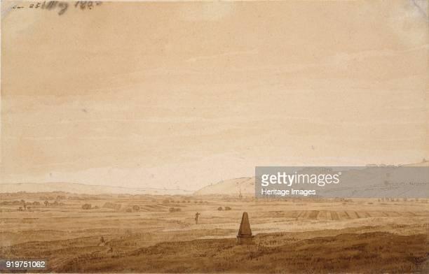 Landscape with an Obelisk, 1803. Artist Caspar David Friedrich.