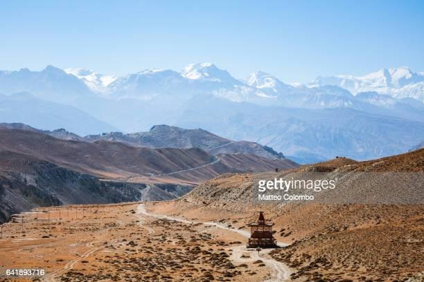 Landscape with Annapurna range, Upper Mustang region, Nepal