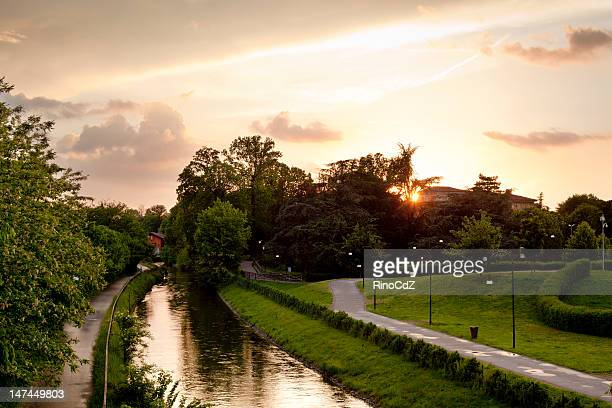 Landscape With Canal At Sunset
