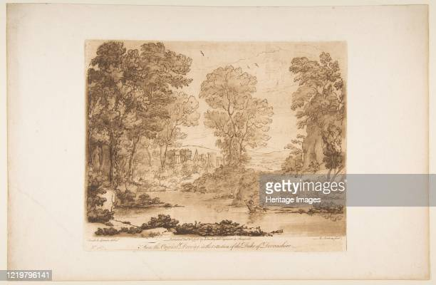 Landscape with Cupid and Psyche 1776 After Claude Lorrain Artist Richard Earlom