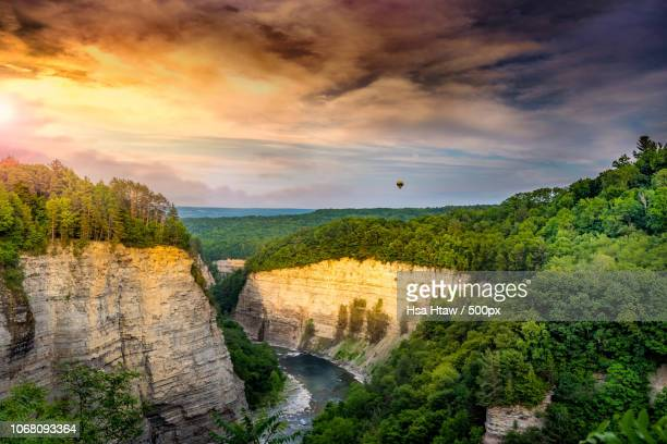 landscape with dramatic sky - buffalo new york state stock pictures, royalty-free photos & images