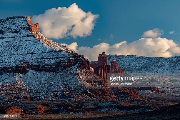 Landscape with Fisher Towers, Utah, USA