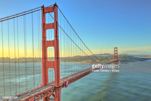 landscape with golden gate bridge, san francisco, usa - oakland stock pictures, royalty-free photos & images
