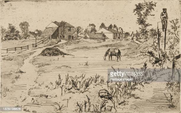 Landscape with Horses, 1859. Artist James Abbott McNeill Whistler.