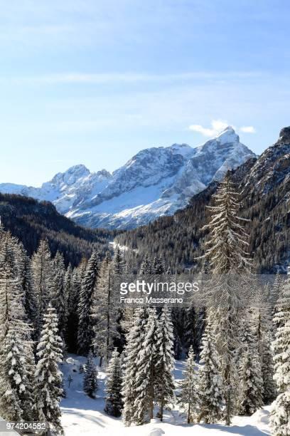 Landscape with Monte Civetta mountain, Dolomites, Italy