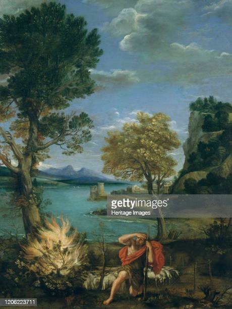 Landscape with Moses and the Burning Bush 161016 Artist Domenichino