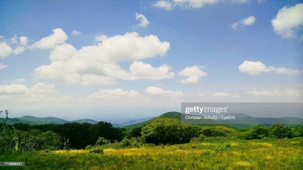Landscape With Mountain Range In Background : Stock Photo