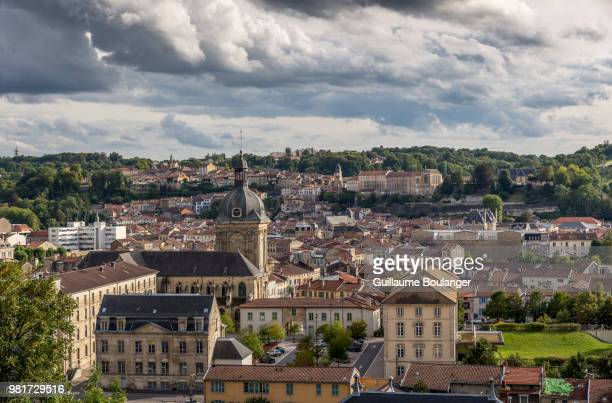 landscape with old town, bar-le-duc, meuse, lorraine, france - lorraine stock pictures, royalty-free photos & images